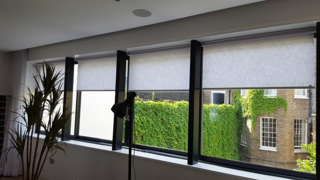 Roller blind fitted in central London