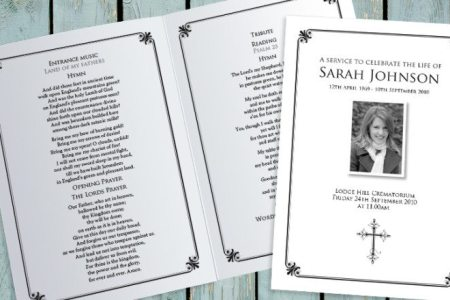 Decorative Border Funeral Order of Service Decorative Border Funeral Order of Service design by Fitting Farewell