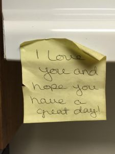 A note from my wife.