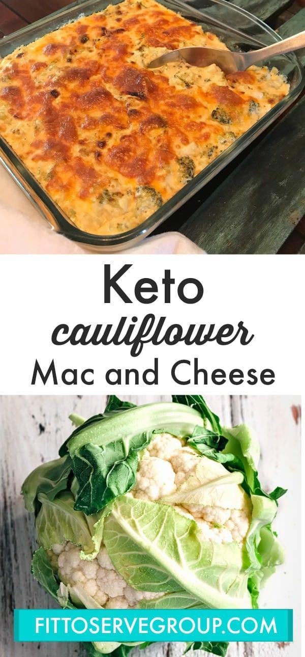keto cauliflower macaroni and cheese