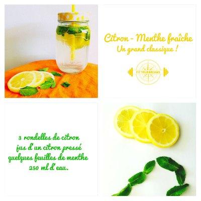 Eau detox citron menthe, grand classique !