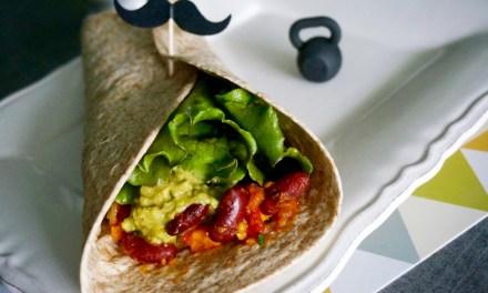 Burritos vegan aux haricots rouges