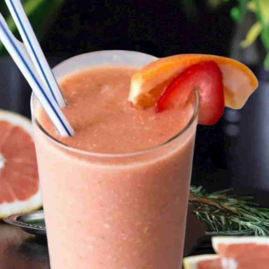 Pink Grapefruit and Cashew Smoothie Recipe - FITZABOUT