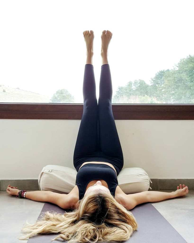 Legs up the wall restorative yoga pose - Fitzabout