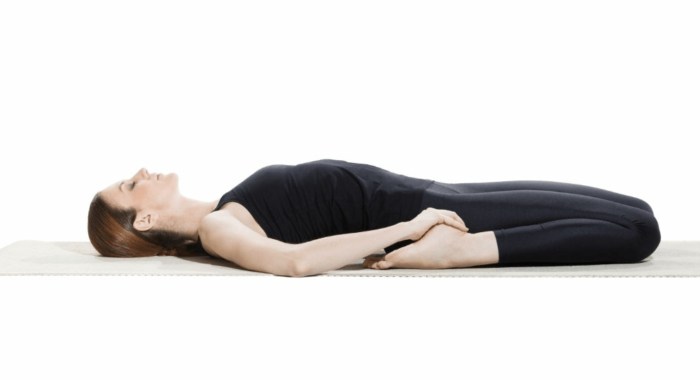 Reclining Hero Pose (Supta Virasana) for for backache pain - fitzabout