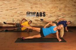 flip flop abs core dvd logo terry john fitzness