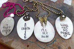 Holiday Gift Guide: Fitness Themed Hammered Spoon Necklaces