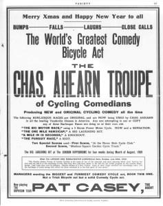 1909 Variety Ad