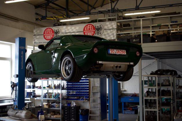 Aestec GTS model in garage