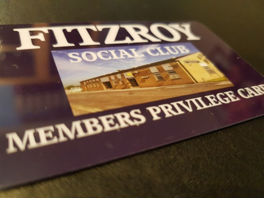 Fitzroy Club Members Card