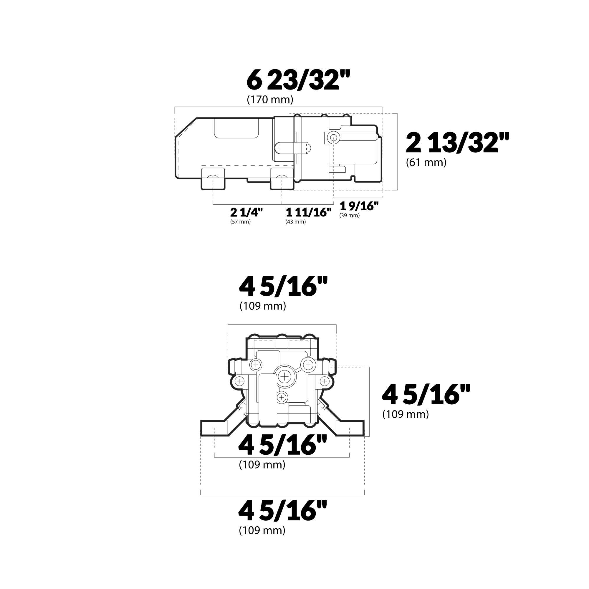 Shurflo Automatic Fresh Water Pump 1 0 Gpm 105 003 Fo