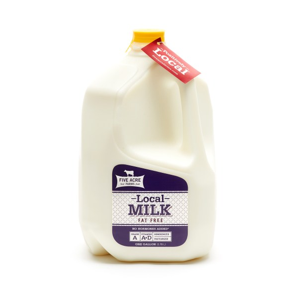 Fat Free Milk - Skim Milk - Five Acre Farms