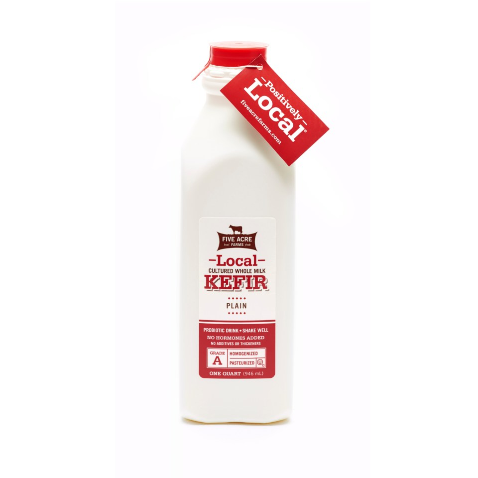 Kefir Bottle - Local Kefir - Five Acre Farms