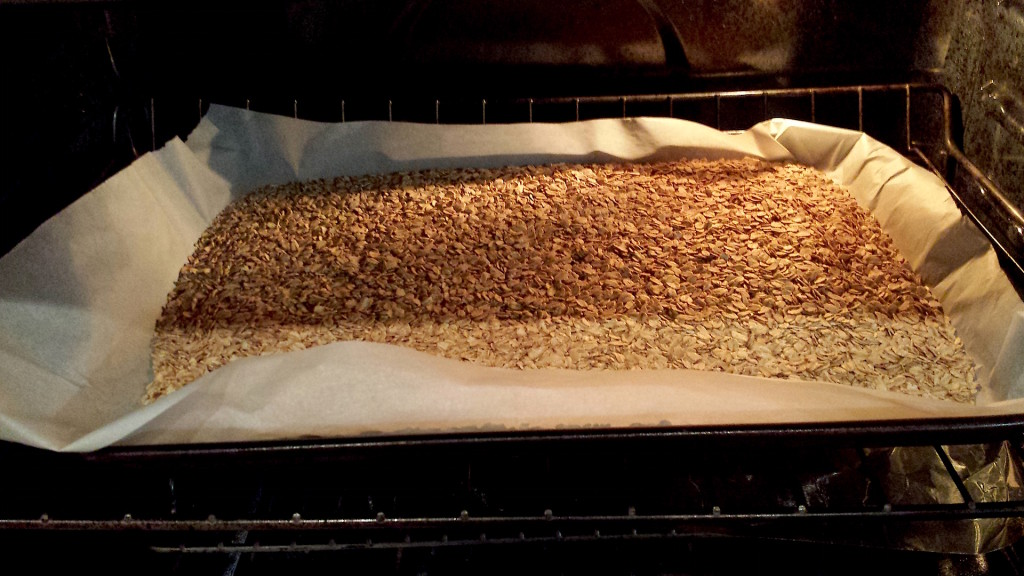 Oats in the oven