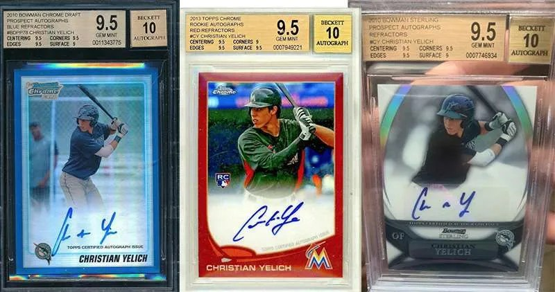 Christian Yelich and his best rookie cards