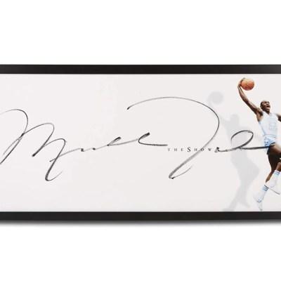 "Michael Jordan Autographed UNC""The Show"" Framed Display"