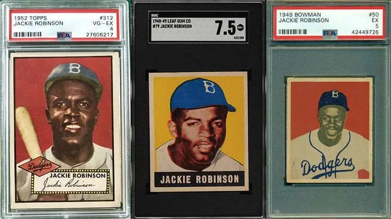Jackie Robinson baseball cards