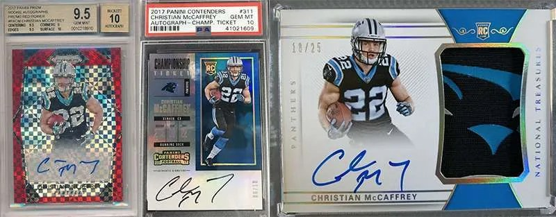 Christian McCaffery rookie football cards