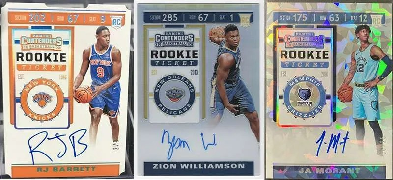 2019 Panini Contenders Rookie TIcket Autograph Cards