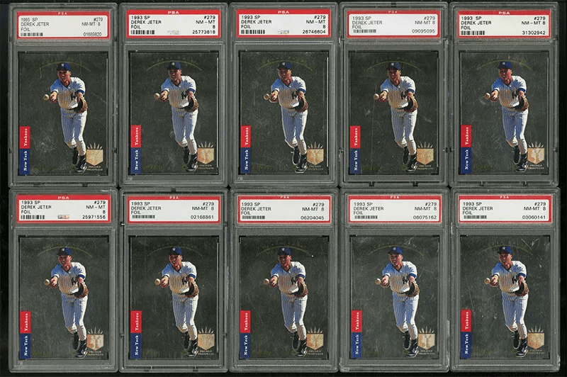 Derek Jeter SP Foil rookie cards