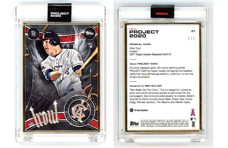 Mike Trout Ben Baller Topps Project 1/1