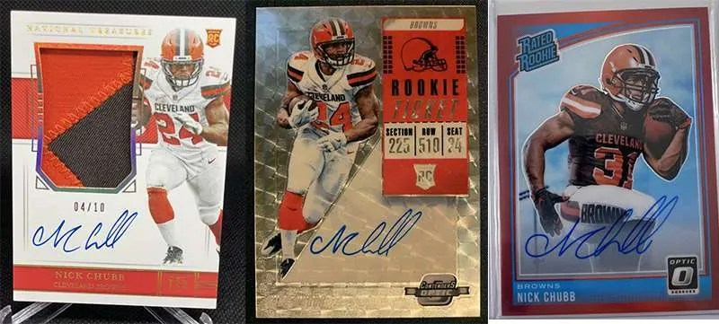 Nick Chubb top rookie cards