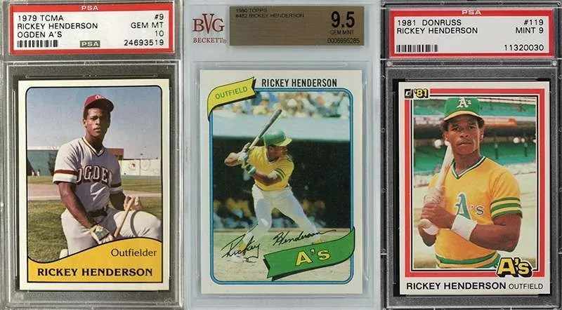 Rickey Henderson rookie cards