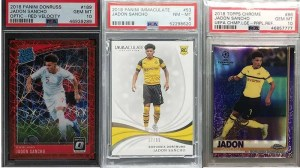 Jadon Sancho and his top rookie cards