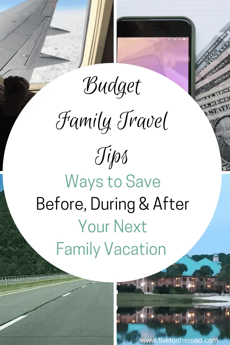 save money for your family vacations