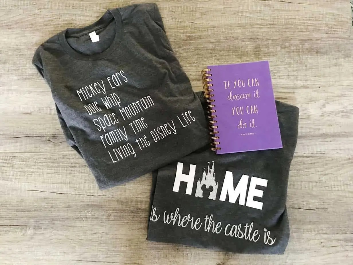 disney inspired tshirts to pack for disney