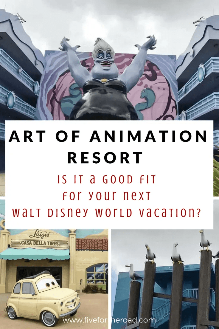 art of animation resort at walt disney world property