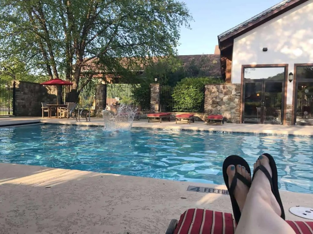 Outdoor pool at the Inn at Holiday Valley