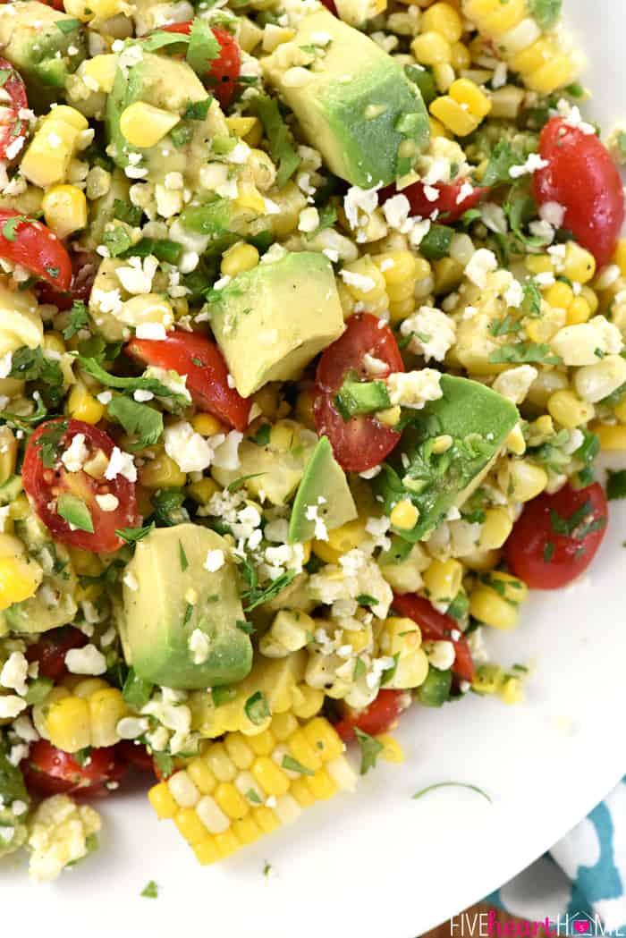 Roasted Corn And Avocado Salad