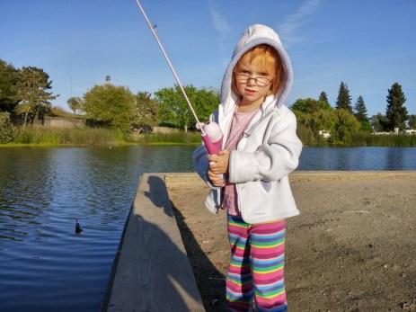 Fishing at Pinto Lake