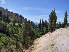 Driving through Lassen