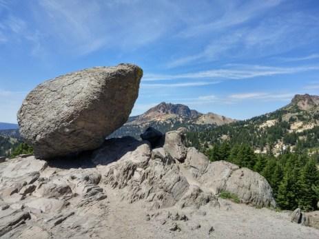Rock left by a glacier