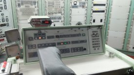 This is the control desk from which the missle is launched