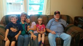 Visiting with Grandparents