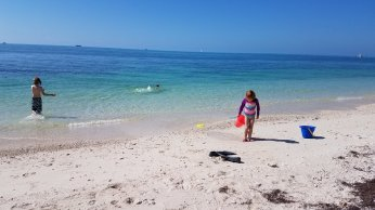 Beach time at Truman Annex, Key West, FL