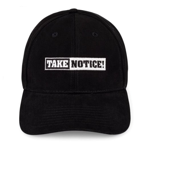 TAKE NOTICE! from FIVE KNUCKLE BULLET <br>Baseball Style Hat – Embroidered front & back