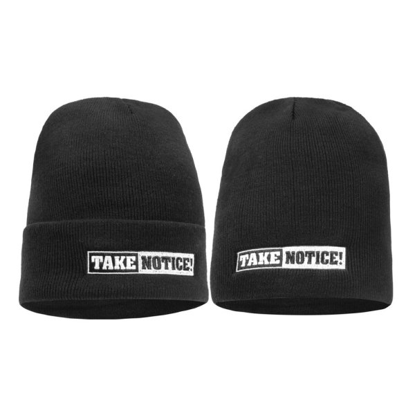 TAKE NOTICE! from FIVE KNUCKLE BULLET <br>Knit Cap Set – (1 Beanie Hat & 1 Watch Cap)