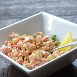 Wild Sockeye Salmon Salad Using Leftover Salmon