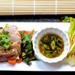 altSeared Tuna with Bok Choy and Stir-fried Veggies from Five Minute Meals photo