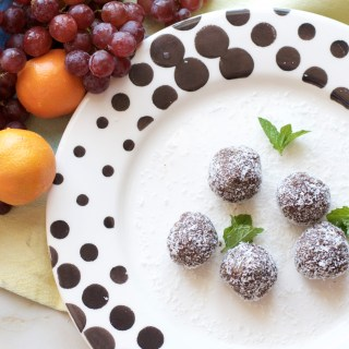 Coconut Date Chia Brownie Balls