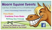 moore equine business card