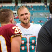 Mike Gesicki has been giving the Dolphins better play at tight end in recent weeks. (Tony Capobianco for Five Reasons Sports)