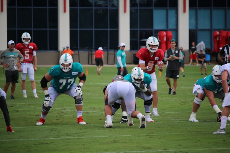 Dolphins offensive line