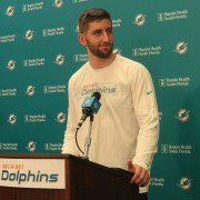 Josh Rosen discusses overcoming the negative perception about him during his introductory news conference with the Miami Dolphins. (Craig Davis)