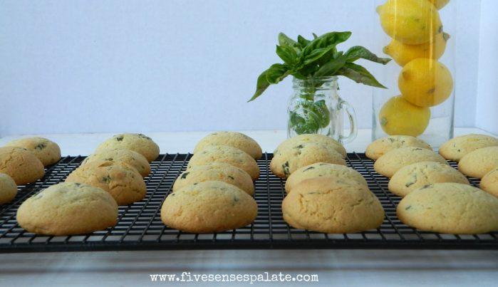 Basil Lemon Cookies Recipe | Five Senses Palate