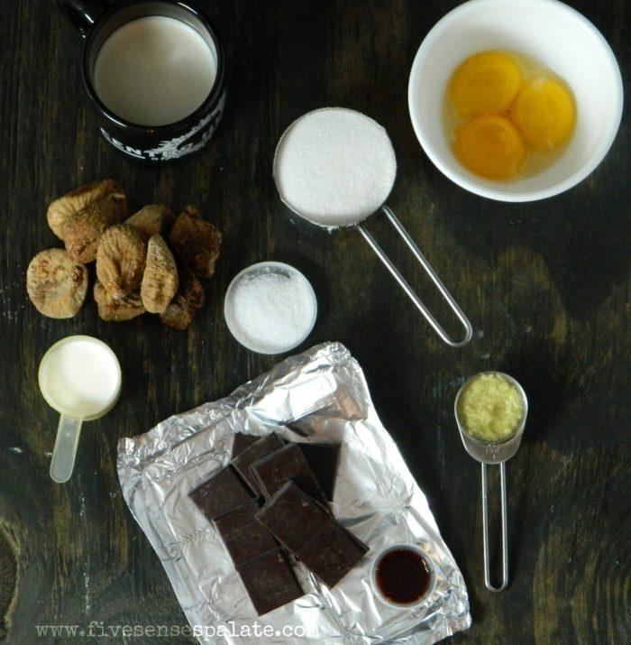 Cocholate, Fig and Ginger Custard Recipe   Five Senses Palate
